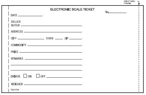 scale ticket sp2000 sp2200 el250 el500
