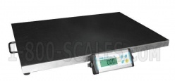 portable digital floor scale with optional rubber mat