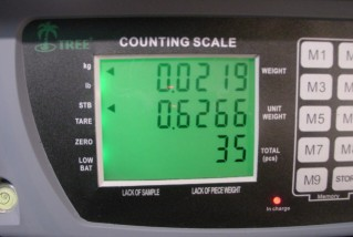 counting scale digital display