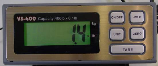 easy to read digital weight indicator
